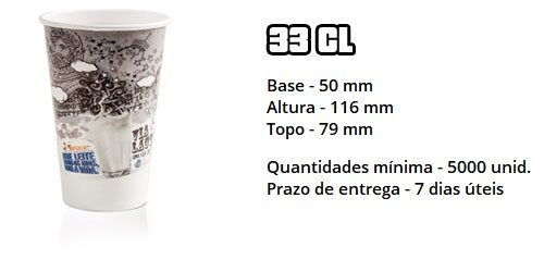 Copo de papel 33cl