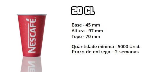 Copo de papel 20cl Nescafé